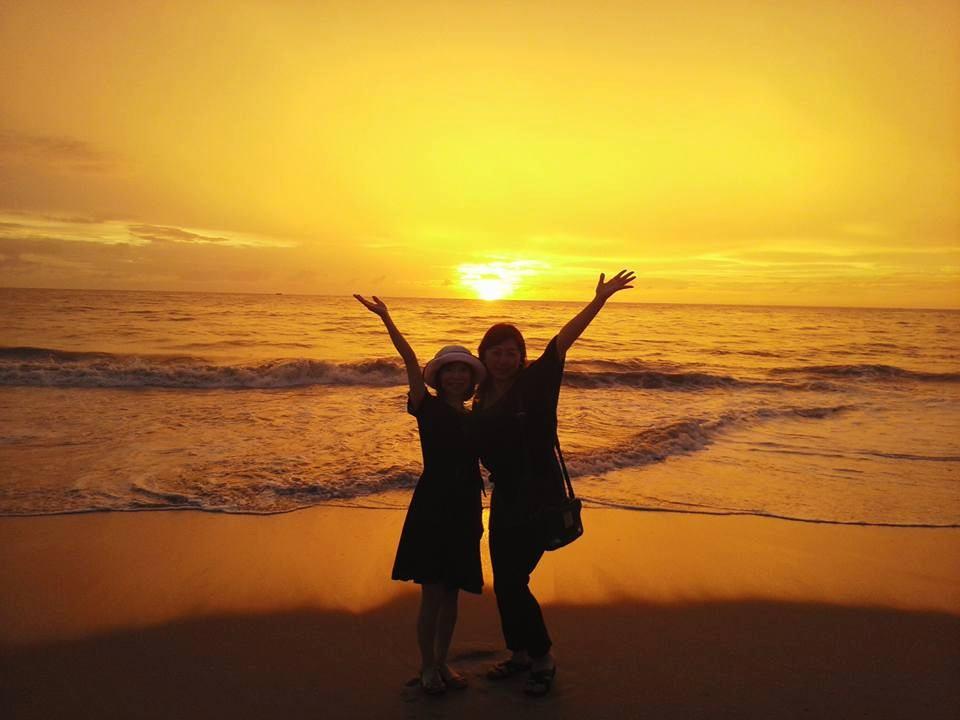 スリランカの夕陽